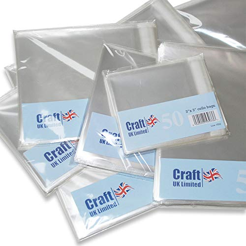 Pack Of 25 25mm Lip Anitas A4 Plastic Cellophane Card Bag Transparent