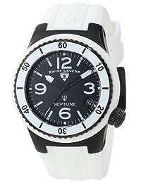 Swiss Legend Women's 11840P-BB-01-WHT Neptune Black Dial White Silicone Watch