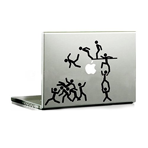 Echohc Stick Man Playing Together-creative Vinyl Cartoon Skin Decal Sticker for Apple Macbook Pro / Air 13 Inch Laptop (Playing Stick Figure)