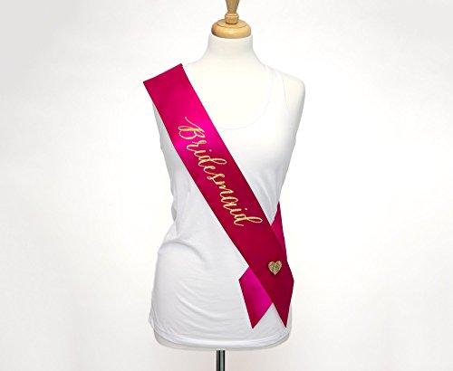 Bridesmaid Sash for Wedding Bridal Party or Bridal Shower