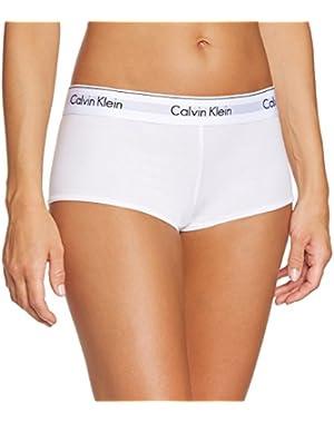 Slip culotte donna CK CALVIN KLEIN articolo F3788E BOYSHORT - size Large - color 100 WHITE