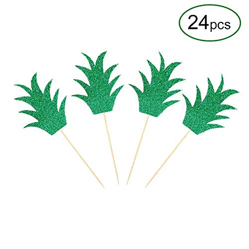 Delicious Pineapple Cake - VEHIRIN 24 Pieces Pineapple Cupcake Donut Topper Lulu Tropical Summer Party Decor-Aloha Bridal Shower
