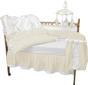 BabyDoll Regal Toddler Bedding Set Ecru