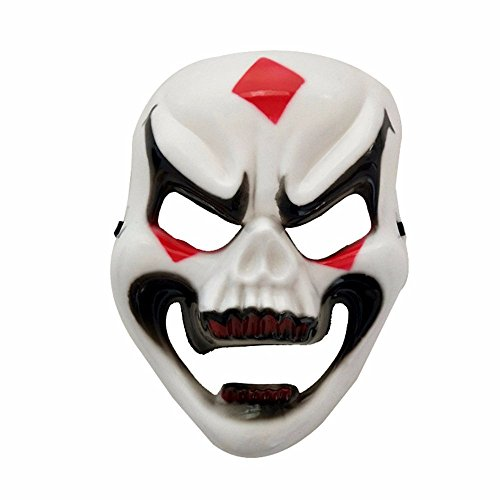 Mardi Gras Party Masquerade Mask,Halloween Full face Horror mask Ghost Skeleton mask Whole Person Scary mask Smiley face mask Prom -
