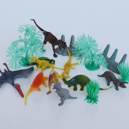 15 Piece Mini Dinosaur Toy Pack- Includes (10) 4
