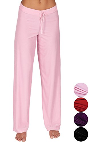 Pink Pyjama Pants - Addison Meadow Pajama Pants for Women Soft Pajama Bottoms, Pink, Large/12-14