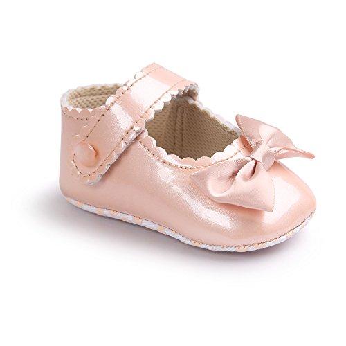 Per Sandalias adornado de lazo elegante Para Bebé Hembra Zapatos Para los Primeros Pasos champán