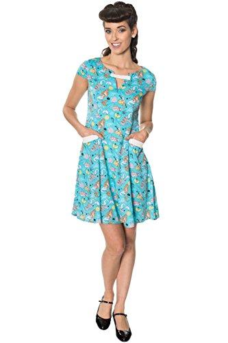 Apparel Minikleid Aqua Kleid Damen Banned Tqgdff