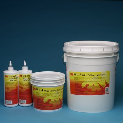 3M WL-5 Wire Pulling Lubricant Gel 5 gal Pail Translucent White