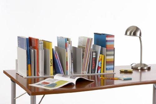 PaperFlow 31-4/7-Inch Individualized Vertical Desktop Organizer, 10 Separators, Grey (4932.02) by Paperflow (Image #2)
