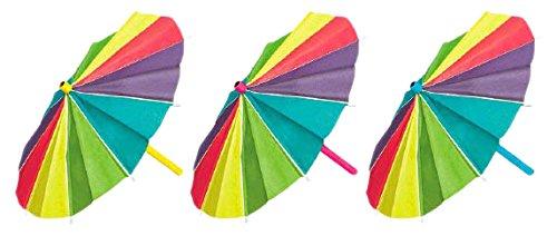 Luau Party Mini Beach Umbrellas Decoration, Paper, 15