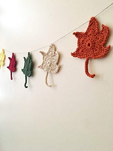 Amazon Crochet Maple Leaf Garland Handmade