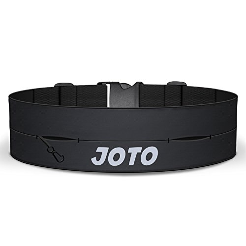 JOTO Running Belt Exercise Runner Belt, Sport Waist Pack for iPhone XS MAX XS XR X 8 7 6S Plus 6 SE 5s Samsung Galaxy, Flip Running Belt for Men Women Workouts Cycling Hiking Walking Fitness -Black