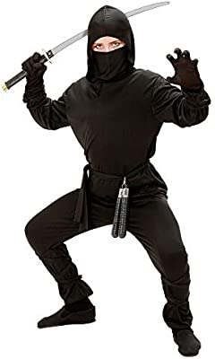 WIDMANN - Disfraz de Ninja para niños, 128 cm (W0264-S): Amazon.es ...