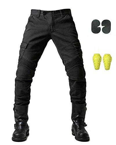 GELing Sportliche Motorrad Hose Mit Protektoren Motorradhose mit Oberschenkeltaschen