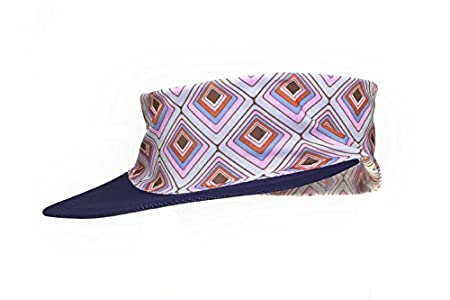 c2c6ae0a27f Women s Sun Visor Hat with Ponytail Hole UV protection Shade Cap with Wide  Brim Multi-Color Head-wrap ...