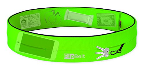 "Level Terrain FlipBelt Waist Pouch, Neon Green, Medium/29"" 32"""