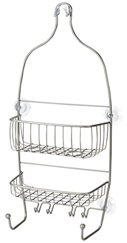Hanging Shower Caddy - Stainless Steel and Rust Free Ensuring a Great Appearance. Large Shelves and Hooks Make it an Efficient Bathroom Shower Storage Organizer. Easily Hang with Suction Cups. by Handy Laundry