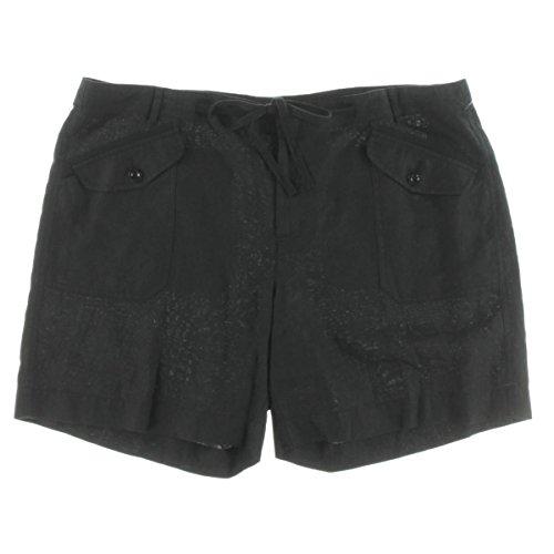 Ralph Lauren Linen Shorts - Lauren Ralph Lauren Womens Linen Walking Casual Shorts Black 22W