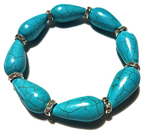 (Nick Angelo's Elegant Bracelet Vintage Look Created Turquoise Band-Setting Versatile Design Fashion Jewelry for Women)
