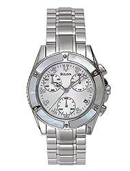 Bulova Women's 96P25 Diamond Dial Chronograph Watch