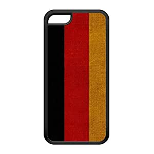 Canvas Flag of Germany - German Flag - Deutsche Flagge - Deutschland Bundesflagge Black Silicon Rubber Case for iPhone 5C by UltraFlags + FREE Crystal Clear Screen Protector