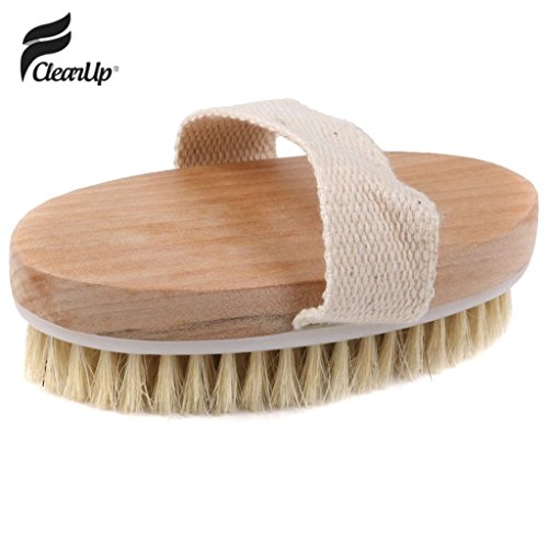 FClearup Hot Dry Skin Body Natural Bristle Brush Soft SPA Brush Bath Massager Home - 1PCS (Cutthroat Island Costumes)