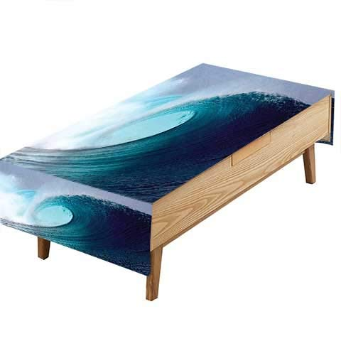 PINAFORE Tablecloth Waterproof Polyester Table Collection Tropical Surfing Wave on a Windy Sea Indonesia Sumatra Picture Print Accessorie Kitchen Decoration Restaurant Decoration W52 x L70 INCH