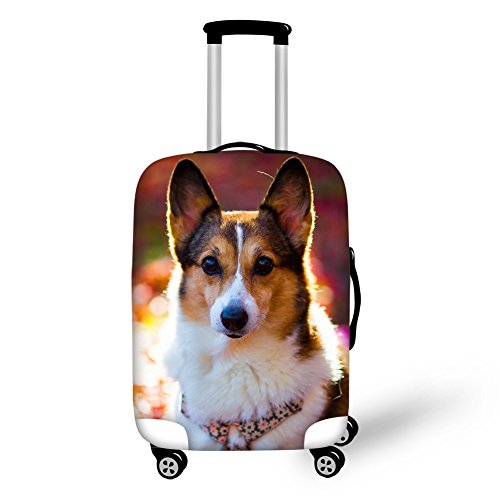 Cheap Coloranimal Shepherd Dog Luggage Suitcase Protective Covers Fits 26/28/30 Inch Trunk Cases