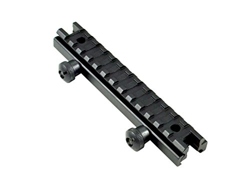 SNIPER 13 Slots Riser Mount; Picatinny; Low Profile, Aluminum; Black Anodized ()