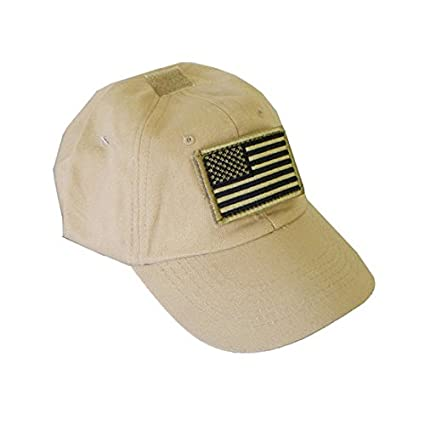 Amazon.com   Tactical Special Force Shooters Cap Hat with US American Flag  - TAN   Sports   Outdoors ecdfe4d538d