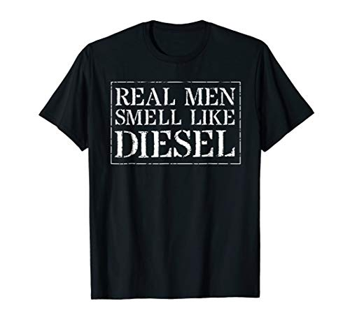 Diesel Apparel Womens (Trucker Mechanic Farmer T Shirt: Real Men Smell Like Diesel)
