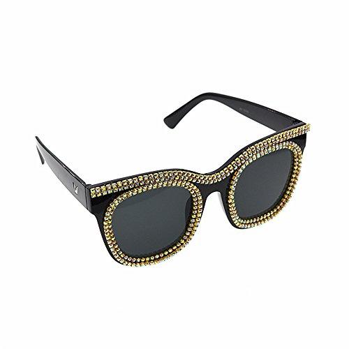 Show Sol Gafas de de Cat Mujeres Style Gafas Ultra de Retro para Personalidad Crystal Las Fashion Sol Gafas Mujer Ligero Gafas de Barroco de Eyes Sol Playa Sol Wenjack OHxnpTwx