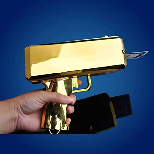 Money Gun Make It Rain Gold Cash Cannon Novelty Gifts