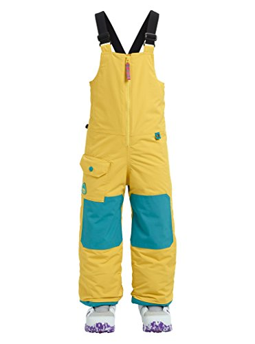 Burton Boys Minishred Maven Bib Pant, Sun Glow, 5\6 Burton Junior Snowboard Clothing