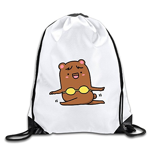 HNN The Bikini Bear Drawstring Backpacks Sack Bags