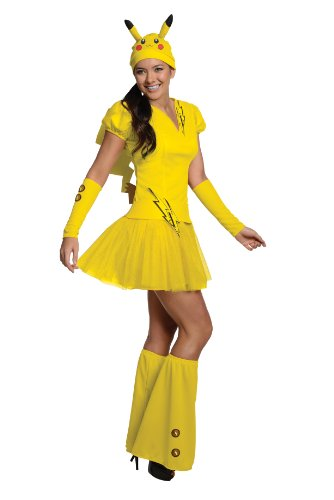 [Secret Wishes  Costume Pokémon, Female Pikachu, Yellow, Small] (Pikachu Costumes Women)