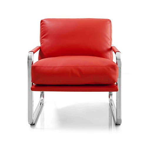 Magis Modern Chair - Magi chair Red Faux Leather