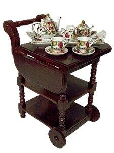 Wooden Tea Cart Kids Toys - 9