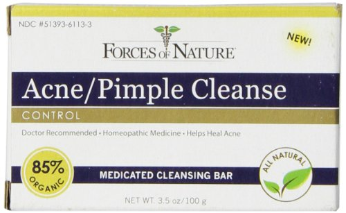 Forces of Nature Acne and Pimple Cleanse, 100 (Cleanse Bar)