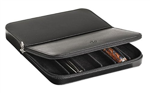 Visconti Dreamtouch Leather 6-Slot Zip Pen Case by Visconti