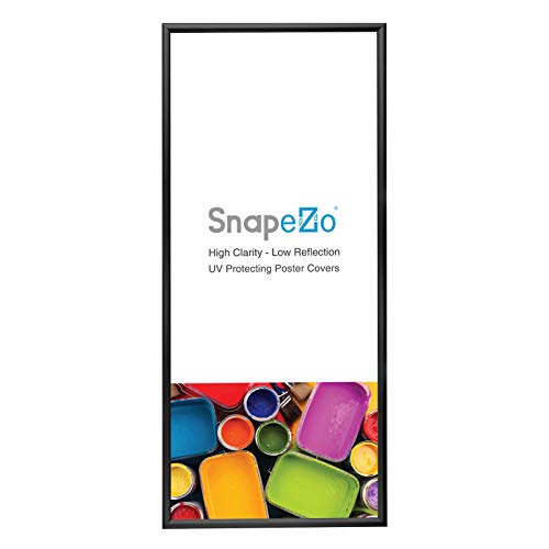 SnapeZo Poster Frame 14x36 Inches, Black 1.2 Inch Aluminum Profile, Front-Loading Snap Frame, Wall Mounting, Premium Series ()