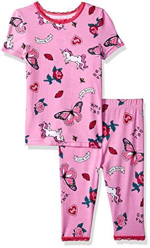 Betsey Johnson Girls' Big 2 Piece Cotton Modal Pajama Set, Icons, 6