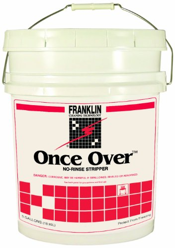 Once Over Floor Stripper (Franklin Cleaning Technology F200026 Once Over Floor Stripper, Mint Scent, Liquid, 5 Gallon Pail)