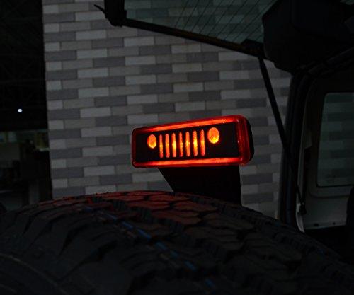 Maiker Balck Jeep Wrangler Third Brake Light Cover For
