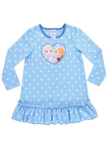 Disney Frozen Nightgown For Girls | Soft & Warm Sleepwear | Blue PJ Gown - 6