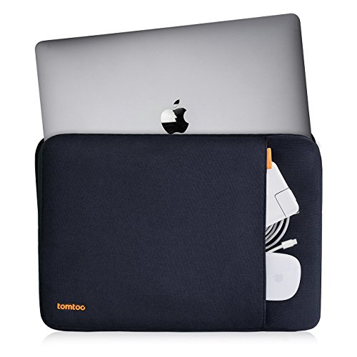 Tomtoc-360-Protective-Laptop-Sleeve-for-13-133-inch-MacBook-Air-MacBook-Pro-Retina-Late-2012-Early-2016-129-Inch-iPad-Pro-2017-Shockproof-Spill-Resistant-Black-Blue