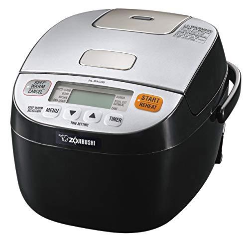 Zojirushi NL-BAC05SB Micom Rice Cooker & Warmer, Silver Black (Renewed)