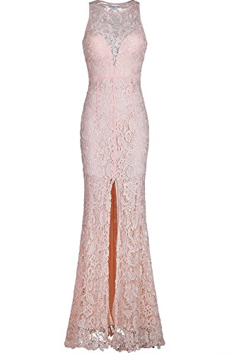Lace Back Evening Gown - 1
