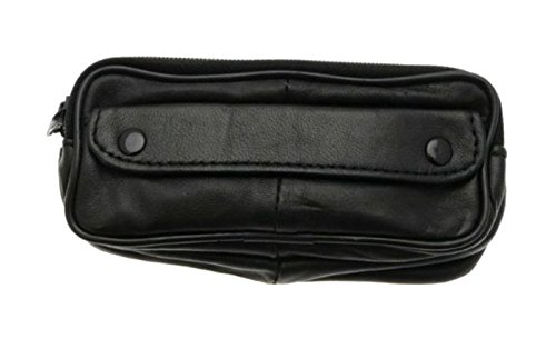 Soft Lambskin Leather Double Spectacle Case With Belt Loop - - Spectacle Cases Soft